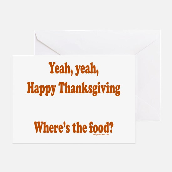 wheresthefoodthanks Greeting Cards
