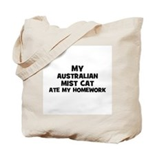 My Australian Mist Cat Ate My Tote Bag