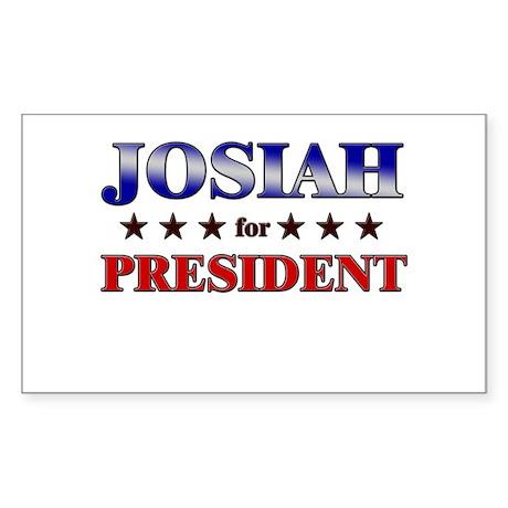 JOSIAH for president Rectangle Sticker