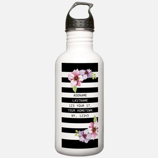 Painted Floral Persona Water Bottle