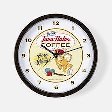 Java-nator Garfield Wall Clock