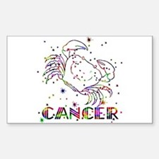 CANCER Skies Rectangle Decal