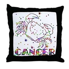 CANCER Skies Throw Pillow