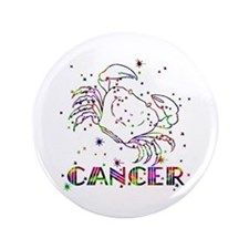 """CANCER Skies 3.5"""" Button"""