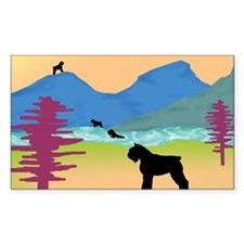 Wild Bouviers Rectangle Decal