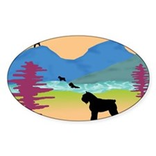 Wild Bouviers Oval Decal