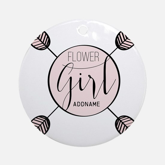 Flower Girl Personalized Round Ornament