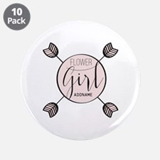 """Flower Girl Personalized 3.5"""" Button (10 pack)"""