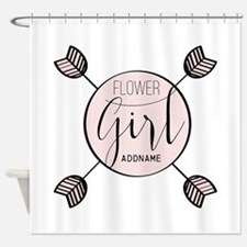 Flower Girl Personalized Shower Curtain