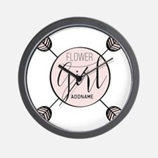 Flower Girl Personalized Wall Clock