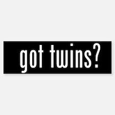 got twins? Bumper Bumper Bumper Sticker