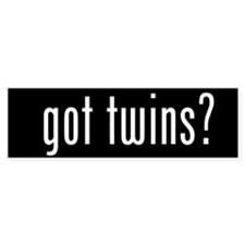 got twins? Bumper Bumper Sticker
