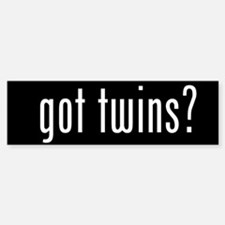 got twins? Bumper Car Car Sticker