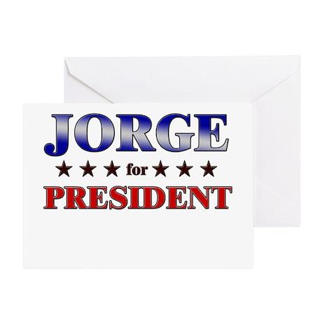 JORGE for president Greeting Card