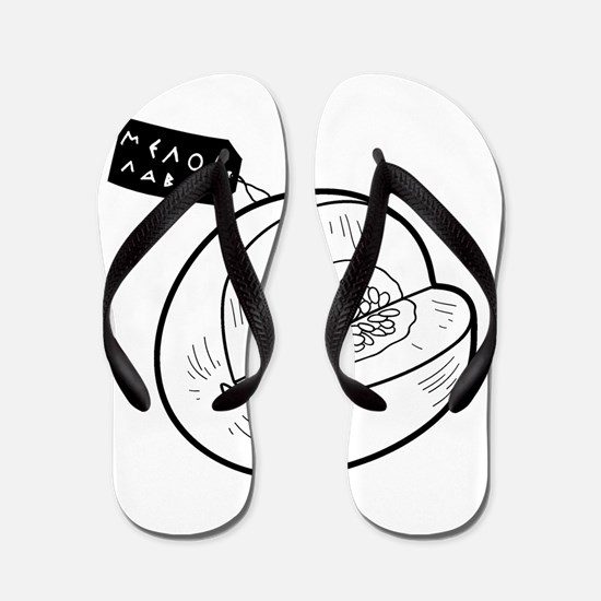Melon Label Flip Flops