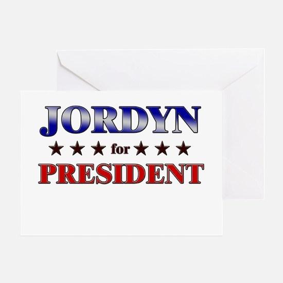 JORDYN for president Greeting Card