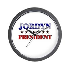 JORDYN for president Wall Clock