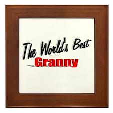 """""""The World's Best Granny"""" Framed Tile"""