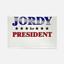 JORDY for president Rectangle Magnet