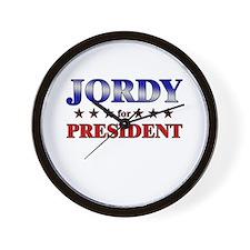 JORDY for president Wall Clock
