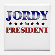 JORDY for president Tile Coaster
