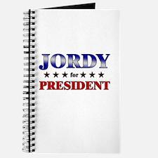 JORDY for president Journal