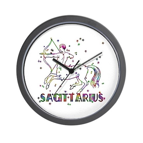 SAGITTARIUS Skies Wall Clock