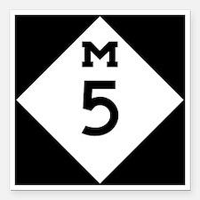 "Michigan M5 Square Car Magnet 3"" x 3"""