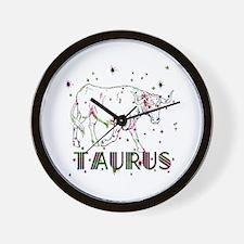 TAURUS Skies Wall Clock