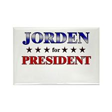 JORDEN for president Rectangle Magnet