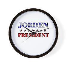 JORDEN for president Wall Clock