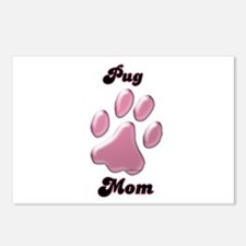 Pug Mom3 Postcards (Package of 8)