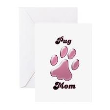 Pug Mom3 Greeting Cards (Pk of 20)