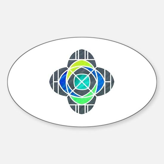 Unique Church geek Sticker (Oval)