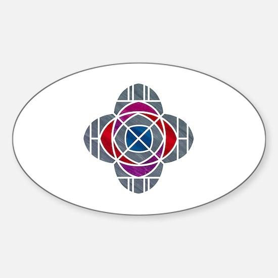 Cute Church geek Sticker (Oval)