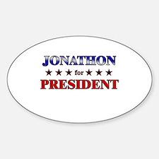 JONATHON for president Oval Decal