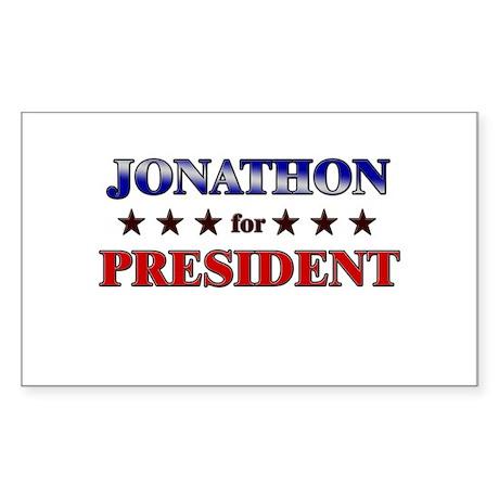 JONATHON for president Rectangle Sticker
