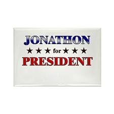 JONATHON for president Rectangle Magnet