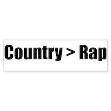 Country > Rap Bumper Bumper Sticker