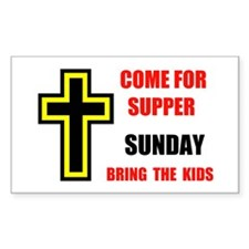 CHURCH WELCOME Rectangle Decal