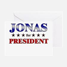 JONAS for president Greeting Card