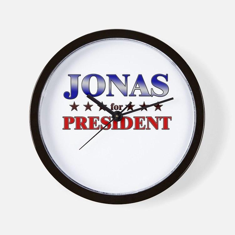 JONAS for president Wall Clock