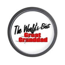"""The World's Best Great Granddad"" Wall Clock"