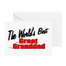 """""""The World's Best Great Granddad"""" Greeting Card"""