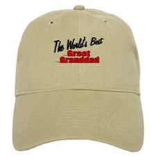 """The World's Best Great Granddad"" Baseball Cap"