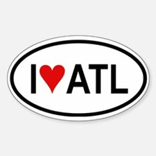 I Love ATL (Atlanta) Oval Decal