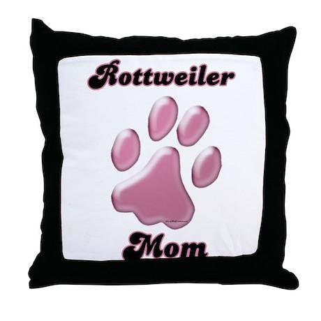 Rottweiler Mom3 Throw Pillow