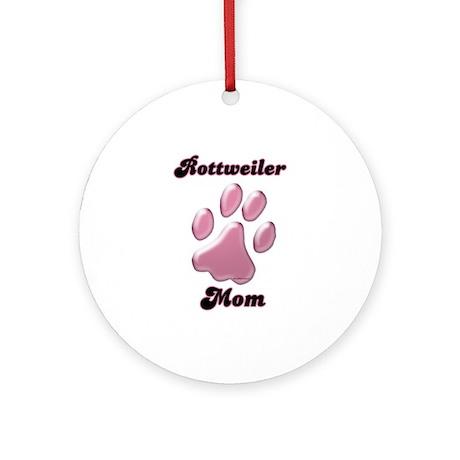 Rottweiler Mom3 Ornament (Round)