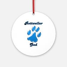 Rottweiler Dad3 Ornament (Round)