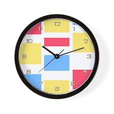 Pink Blue Yellow Wall Clock